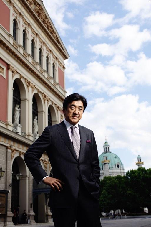 Wo alles begann: Yutaka Sado vor dem Wiener Musikverein